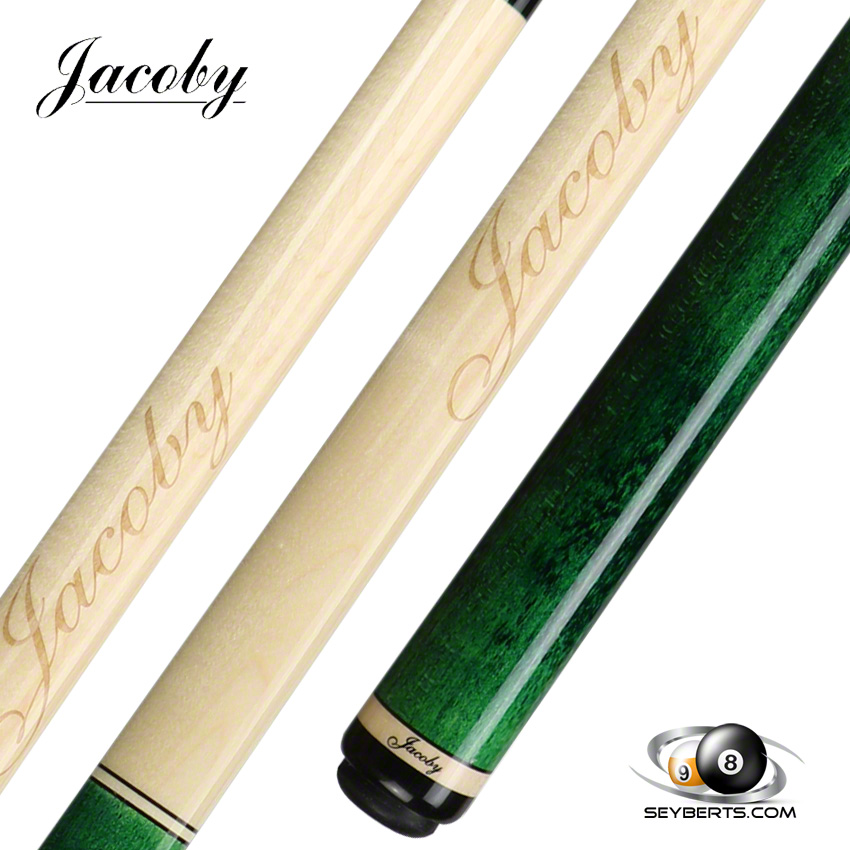 Jacoby Custom Pool Cue Jacoby Mag Green Pool Cue
